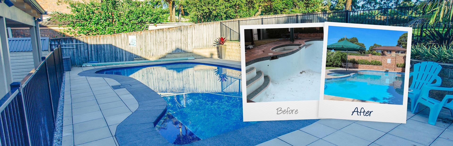 Hills pool painting renovation for Swimming pool resurfacing sydney